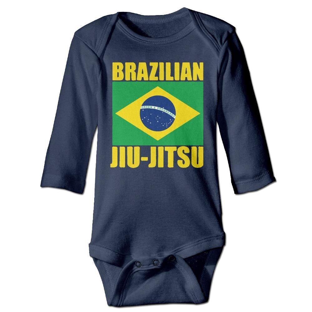 Mri-le1 Baby Boy Girl Long Sleeved Coveralls Brazilian Jiu Jitsu Kid Pajamas