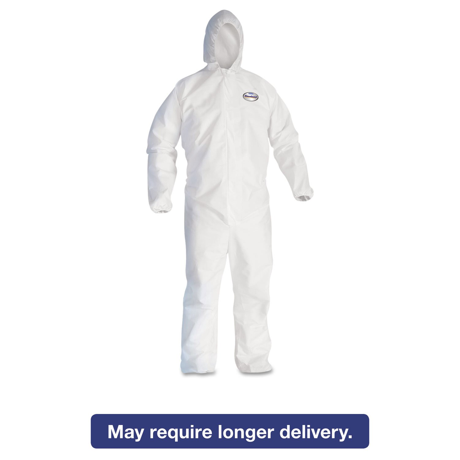 KCC46114 - Kleenguard A30 Elastic-back amp; Cuff Hooded Coveralls, White, X-large by Kimberly-Clark