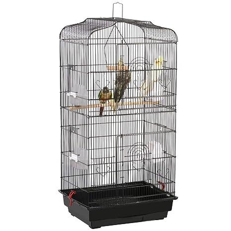 Yahee Jaula para Pájaros Jaula Metálica para Mascota Aves Loros ...