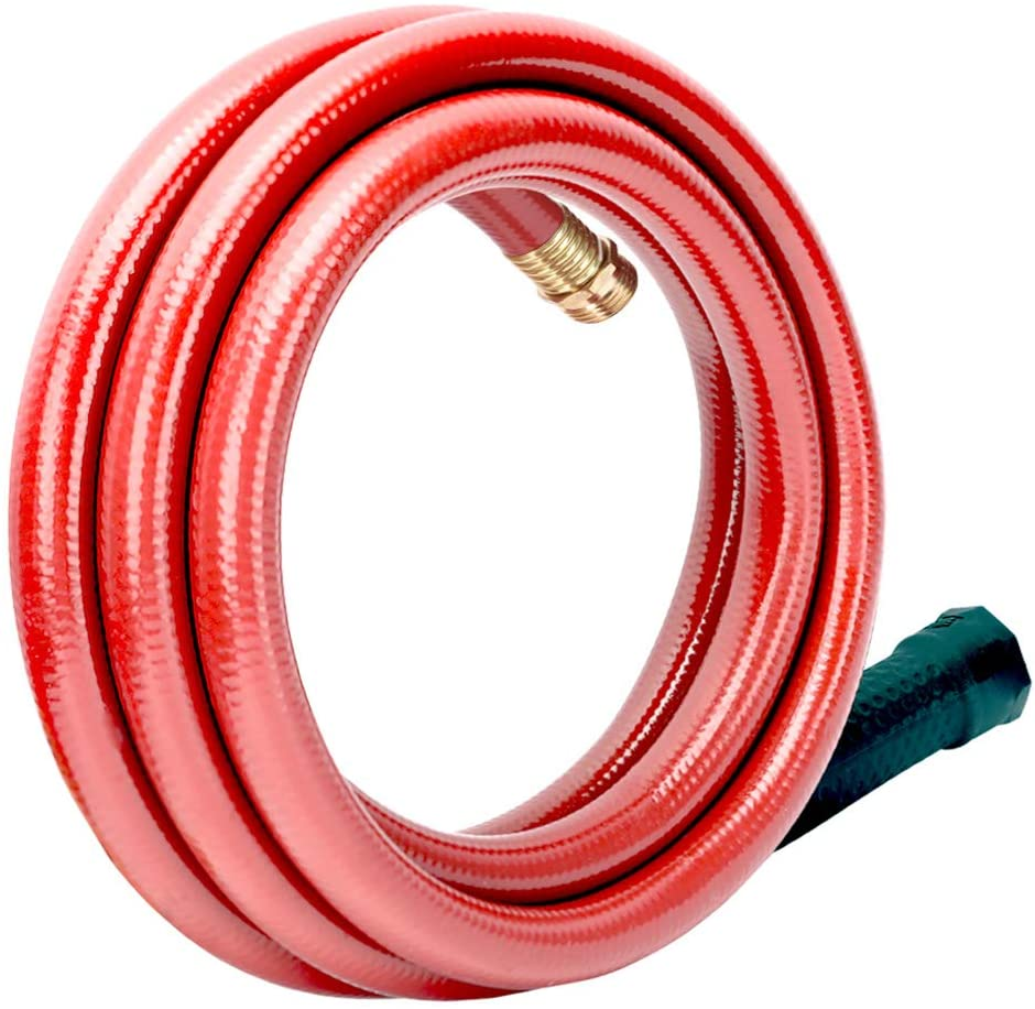 #G-H165B35-US 3/4 in. x 15 ft. Red Garden Short Hose Male/Female Lead-Hose, No Leaking, High Water Pressure Solid Brass Fitting for Water Softener,Dehumidifier,RV Vehicle Drain Water