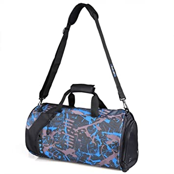 1d820693cc Tofern Unisex Men Women Work Light Weight Holdall Bag Club Team Sports Bag  Gym Travel Work Duffle Weekend Everyday Shoulder ...