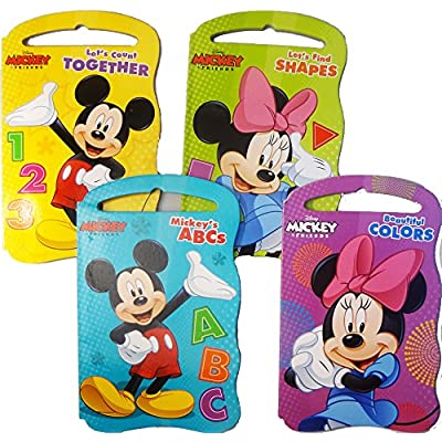 Disney Mickey and Friends Baby Beginner Board Books (Set of 4 Shaped Board Books): Toys & Games