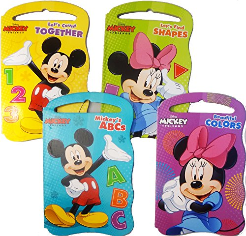 Amazon.com: Disney Mickey And Friends Baby Beginner Board Books (Set Of 4  Shaped Board Books): Toys U0026 Games