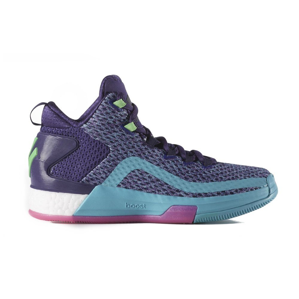 Adidas J Wall 2 Boost J - AQ8550 - Color Blue-Violet-White - Size: 4.5 by adidas
