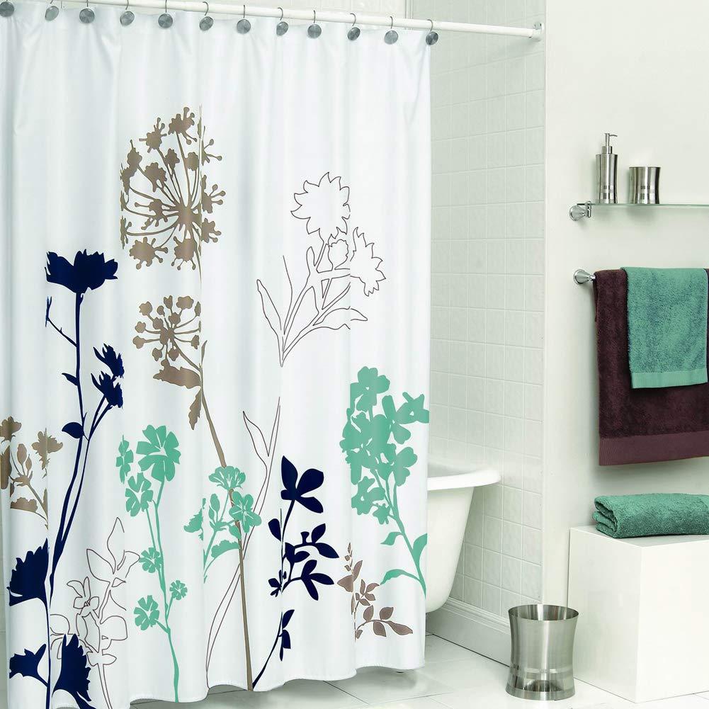 Amazon DS BATH Silhouette Flower Shower CurtainMildew