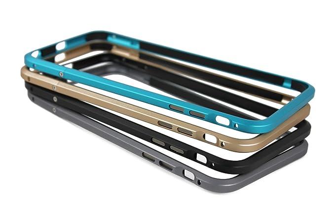 best website a5b39 ad552 iPhone 6 Plus Case, iPhone 6S Plus Case, Aluminium Alloy Metal Frame  Armor[No Inner Bumper] [Raised Edge Protection] for iPhone 6 Plus, 6S Plus  (Gold)