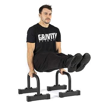 Gravity Fitness Parallettes - Medium - Nouvelles poignées de 38 mm -  Exercices de gymnastique 2dd1e9e2440