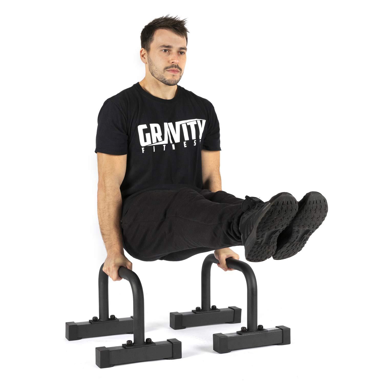 Gravity Fitness Medium Pro Parallettes 2.0 - Nuevas manijas de 38 mm - Calisténica, Crossfit