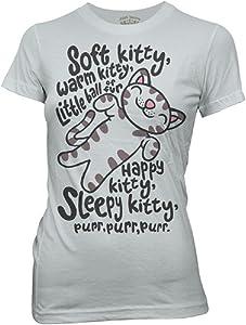 Big Bang Theory Soft Kitty Song Grey Juniors Graphic T-Shirt - Small