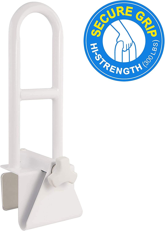 Medical Adjustable Bathtub Safety Rail Shower Grab Bar Handle: Health & Personal Care