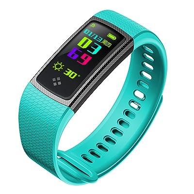 étanche Fitness tracker, Bluetooth 4.0Smart Bracelet avec podomètre tracker d'activité élégante avec la fréquence cardiaque/sommeil moniteur de pression sanguine/bracelet de spo