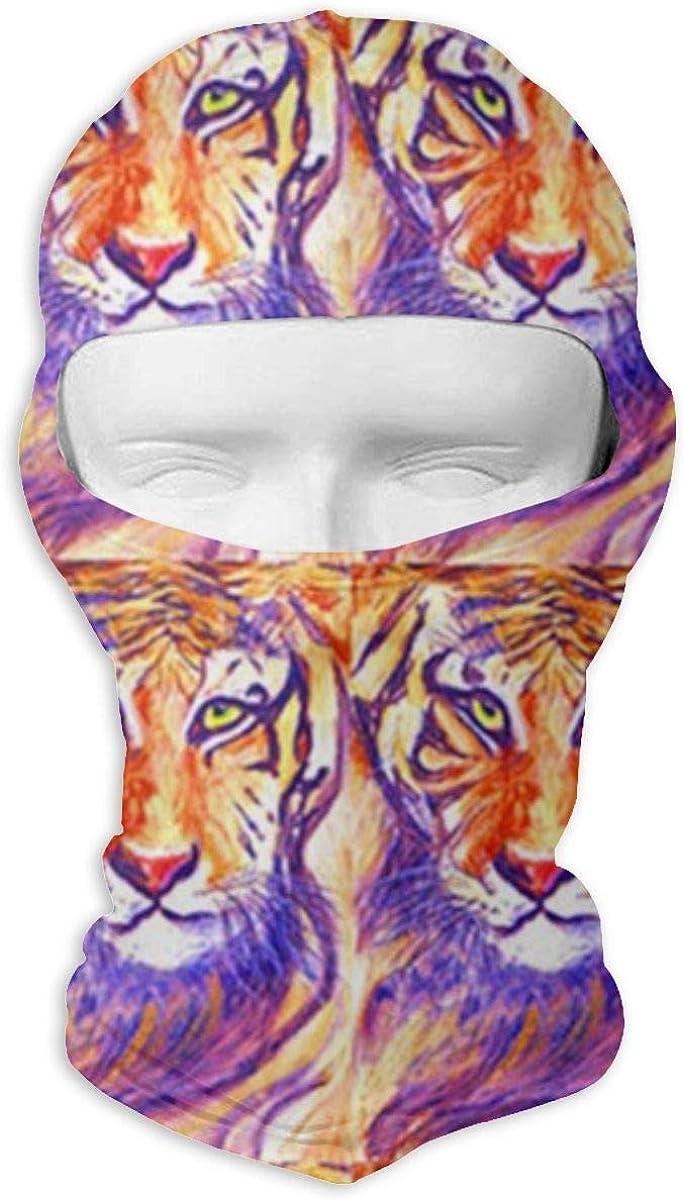 CAClifestyle Tiger Painting Unisex Windproof Balaclavas Full Face Mask Hood