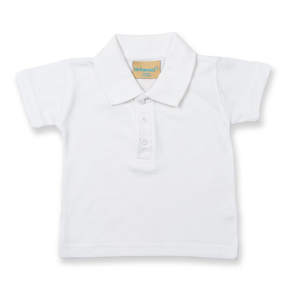 Larkwood Baby/Toddler Unisex Polo Shirt (0-6) (White) UTRW794_2
