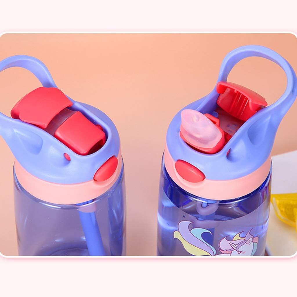 jiheousty Enfants de b/éb/é de 480millilitre nourrissant des Tasses avec des Bouteilles deau imperm/éables de Couvercle de pailles ext/érieures