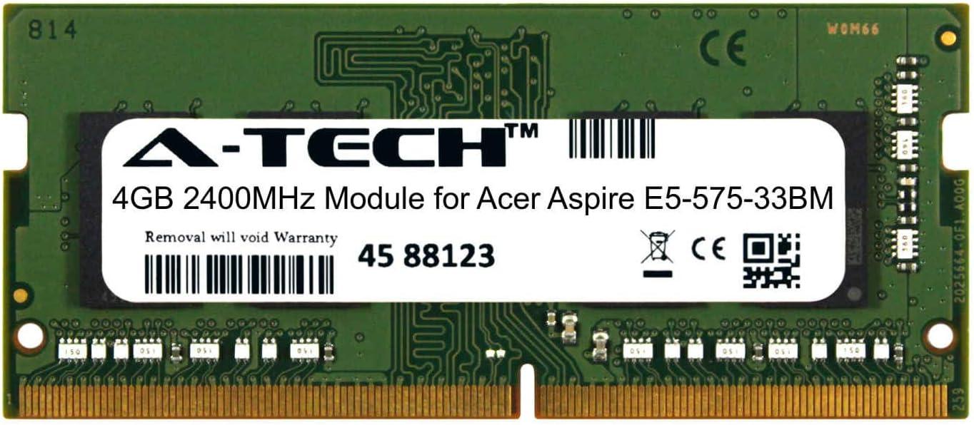 A-Tech 4GB Module for Acer Aspire E5-575-33BM Laptop & Notebook Compatible DDR4 2400Mhz Memory Ram (ATMS268872A25824X1)