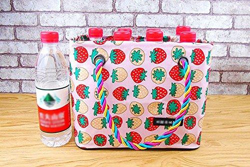 Resistente Cosméticos Wash Travel La Pattern A Impermeable Bag De Oxford Durable Cloth Shoping Storage Suciedad Rosado Strawberry Almacenamiento Multifunción Aikesi Bolsa fPxpdqp