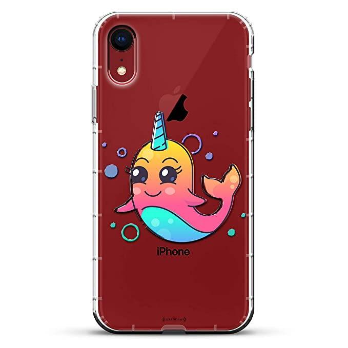 7907db7a8b Cute Unicorn Dolphin   Luxendary Air Series Clear Silicone Case with 3D  printed design and Air