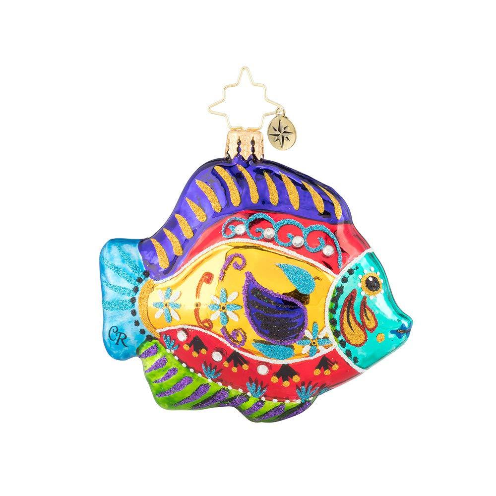 Red Christopher Radko Fabulously Fishy Gem Christmas Ornament