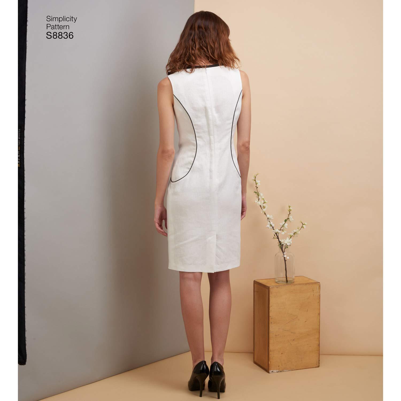 2761340370cb Simplicity US8836R5 - Cartamodello per vestito da Miss Petite