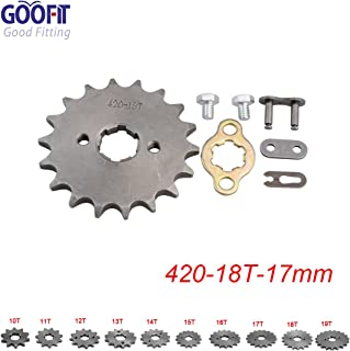 GOOFIT 420 17 17mm Tooth Front Engine motorcycle Sprocket Chain Retainer Plate LockerEngine For 50cc 70cc 90cc 110cc Motorcycle Dirt Bike ATV Quad