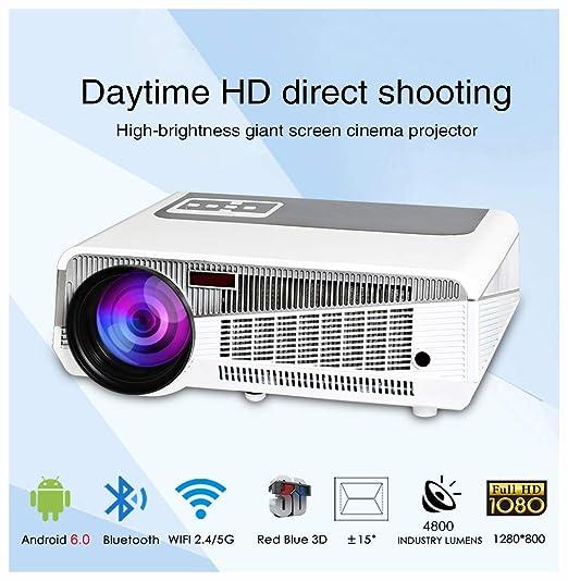 Proyector de Cine en casa WiFi 3D de 5000 lúmenes 1280x800 PC ...