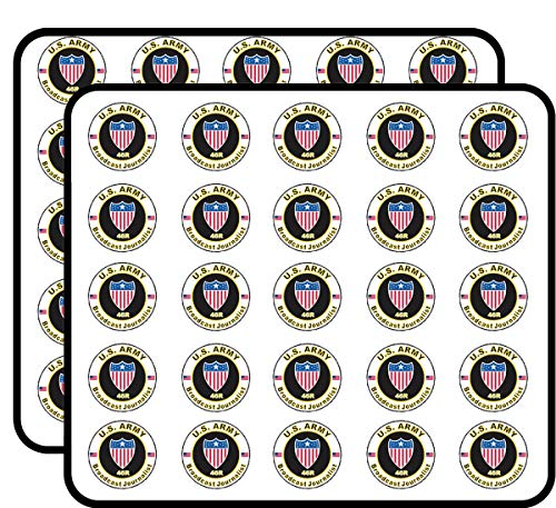 U.S. Army MOS 46R Broadcasting Journalist 50 Pack Sticker for Scrapbooking, Calendars, Arts, Album, Bullet Journals and More 1