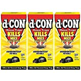 d-CON Reusable Ultra Set Covered Mouse Snap Trap, 6 Traps (6 Packs x 1 Trap) (Pack of 3)