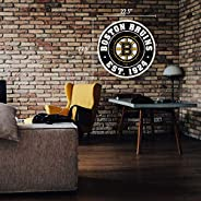 "Boston Bruins Wall Sign - 22"" Round Distr"