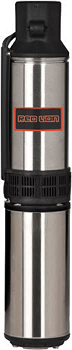 Red Lion RL12G15-3W2V Submersible Deep Well Pump, 1-1/2-HP 12-GPM 3-Wire 230-Volt, Stainless Steel