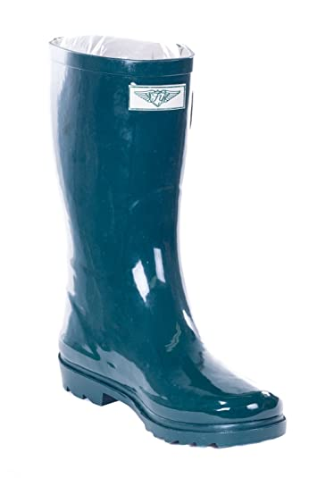c544ebaf1fe0b Forever Young Women's Forest Green Rubber 11-inch Mid-Calf Rain Boots 7