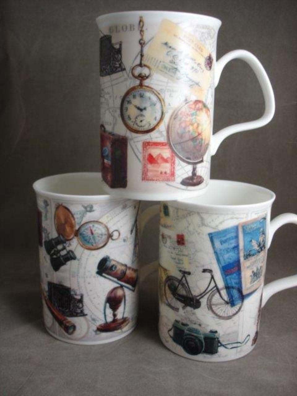 6 Piece Roy Kirkham Lancaster Mug Set Coffee Cups Mugs