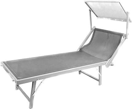 Sonnenliege Gartenliege Gartenstuhl Relaxliege Liege Strandliege Liegestuhl grau