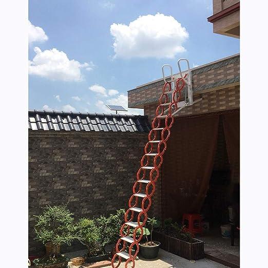 NICOLAS Escalera telescópica para Colgar en la Pared al Aire Libre, con Plataforma Duplex, escaleras Plegables Simples, escaleras retráctiles no eléctricas de 1 a 3,5 m, Escalera: Amazon.es: Hogar