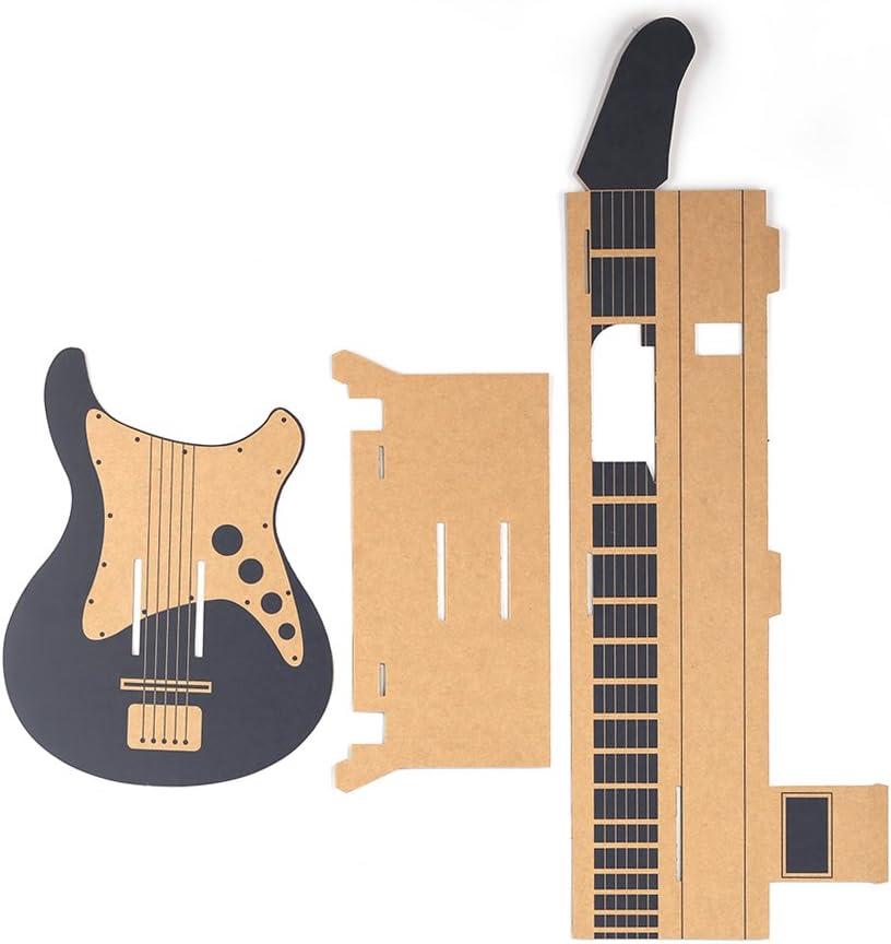 Amazon.es: Goolsky Labo DIY Caja de Cartón Soporte de la guitarra ...