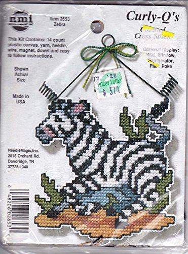 Curly-Q's Zebra Counted Cross Stitch Kit 2653