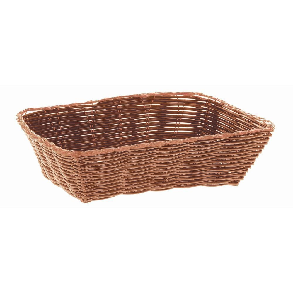 HUBERT Brown Wicker Bread Basket Rectangular - 9