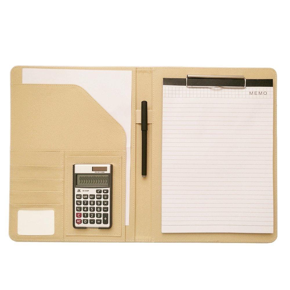 Porte documents de Conferencier Calculatrice Bloc notes Pad