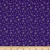 Tattooed Zoltar Purple Fabric By The Yard
