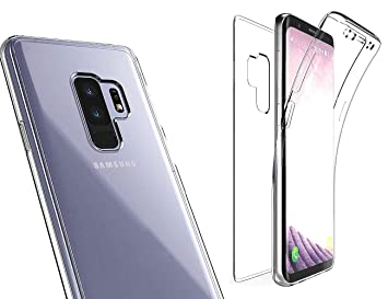 quality design de0e8 3252a NWNK13® Samsung Galaxy S9 Plus Case Crystal [ Clear Transparent ] [  Flexible Fitting ] Slim Shockproof 360° Front and Back Full Body Case for  ...