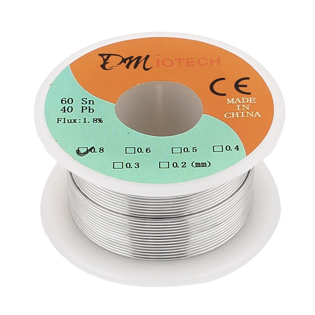 0.8mm 35G 60/40 Rosin Core Tin Lead Roll Soldering Solder Wire ...