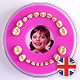 Baby Tooth Box Firsty Round (Pink, Girl) ABF English, Fast Delivery