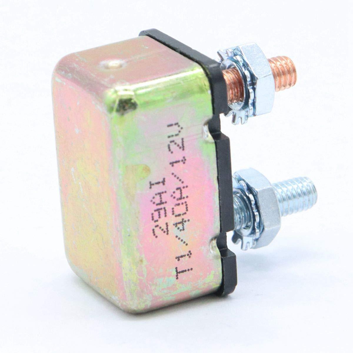 XZANTE Autom/óvil Marino 12 24V Interruptor Disyuntor de Circuito General Disyuntor de Circuito de Sobrecarga de Reinicio Autom/ático 40AMP