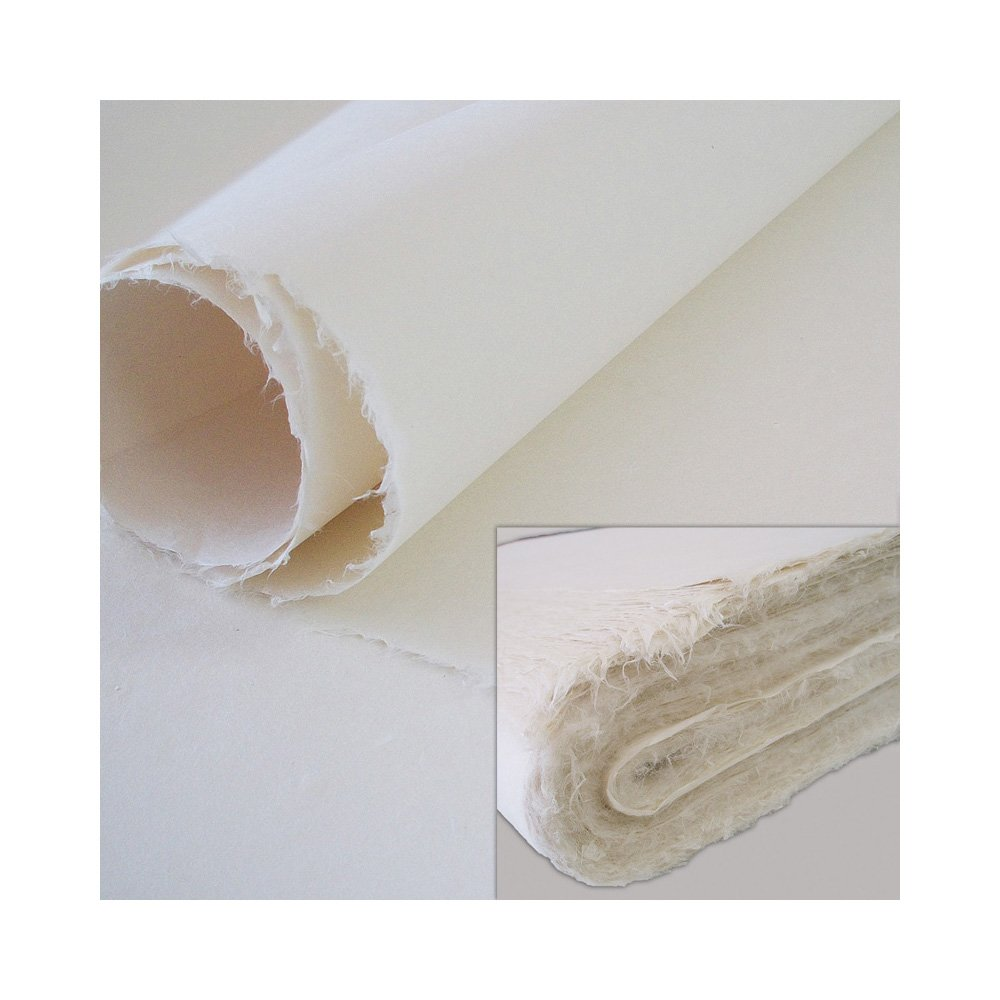 [3 Pcs] Korean Traditional Mulberry Paper HanJi Handmade Unbleached Pale Yellow Double Layer 29.5'' x 57.1''