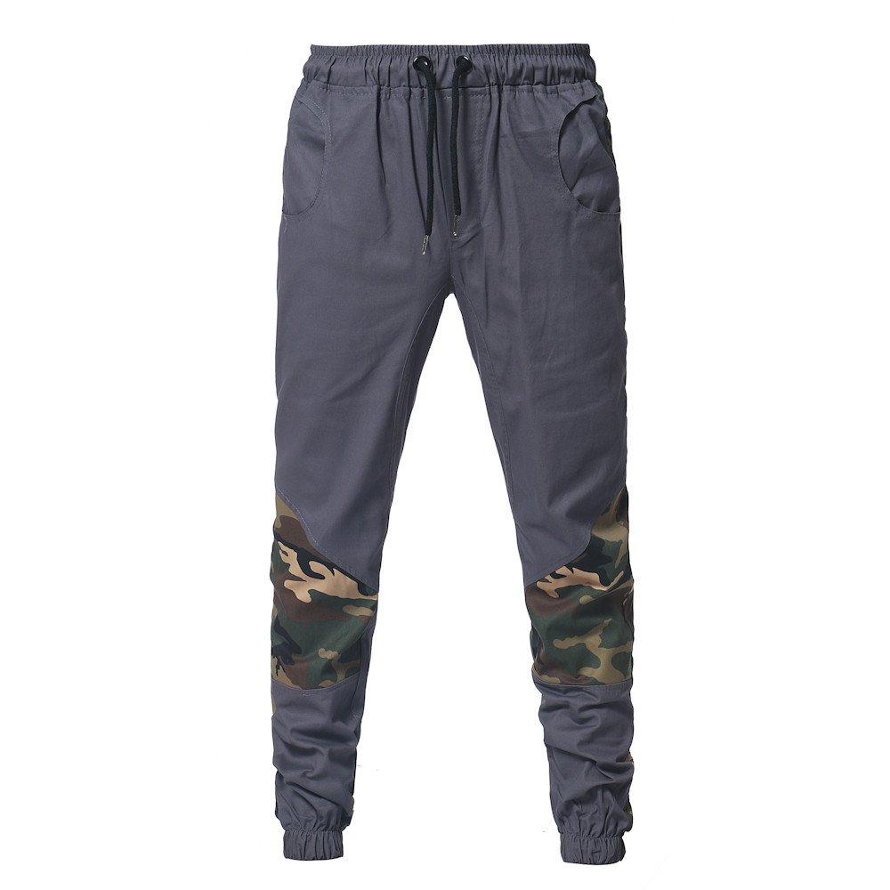 ... de Moda para Hombre Pantalones de chándal Sueltos Ocasionales con cordón Camuflaje Militar Jogging Pantalones Deportivos: Amazon.es: Ropa y accesorios