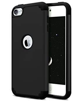 Dailylux iPod 5/6 Carcasa,iPod Touch 6 Funda,iPod Touch 7 Funda,Carcasa Delgado de Doble Capa híbrido de Silicona PC Duro Cubierta de la Caja ...