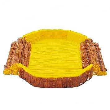 Cuenco de la comida de piel de serpiente omem reptil Habitat, caja ...