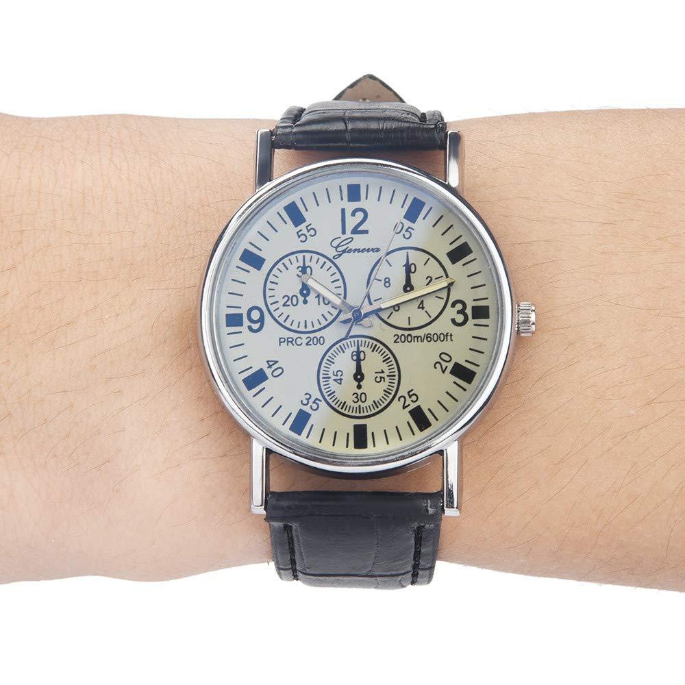 Amazon.com : LtrottedJ Blu Ray Glass Watch Neutral Quartz ...