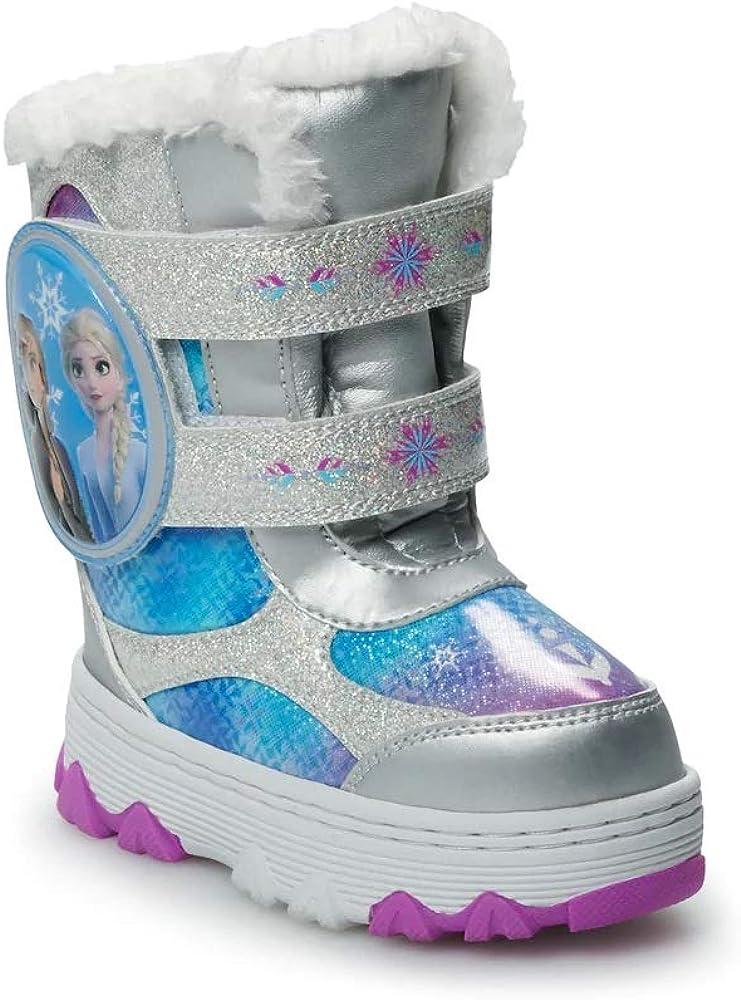 Little Kids Toddler Girls BHD-02I Pull On Fleece Lined Winter Rain Snow Boots
