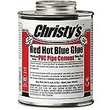 CHRISTY RH-RHCV-PT Red Hot Clear Glue Pint Low VOC, 16 fl. oz