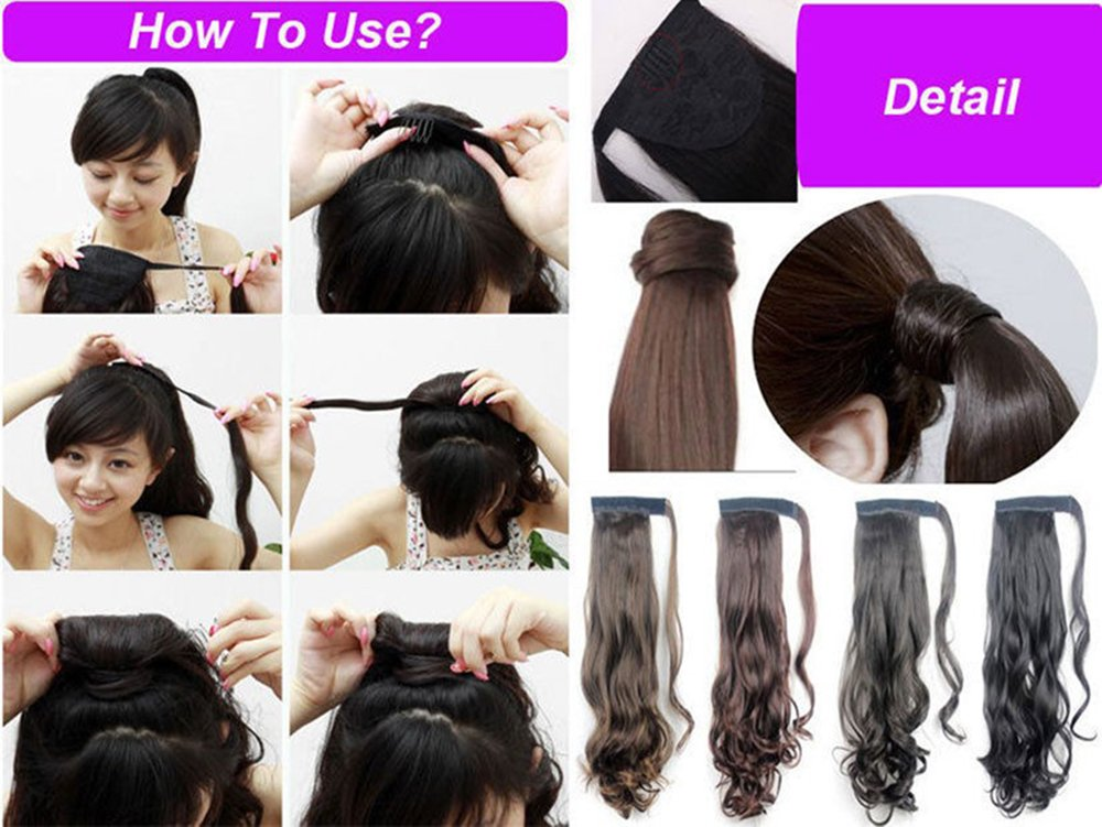 Amazon Women Hair 2460cm Curly Silver Grey Wrap Around